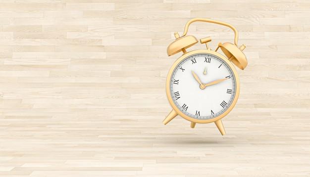 Classic gold alarm clock