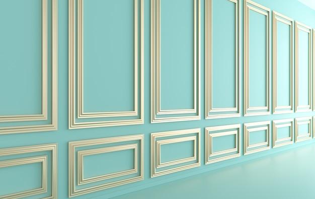 Рендеринг внутренних стен в классическом стиле
