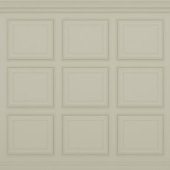Classic light brown wall ,3d render