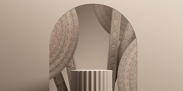 Классический роскошный абстрактный фон подиума для презентации продукта 3d-рендеринга