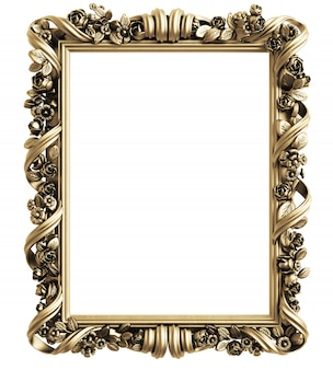 Classic mirror frame. 3d rendering