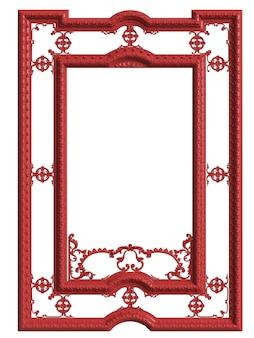 Classic mirror frame isolated.  3d rendering