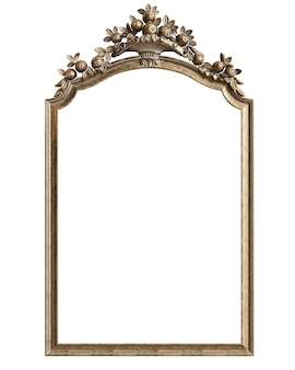 Classic mirror frame on white background