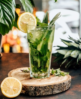 Classic mojito on the table