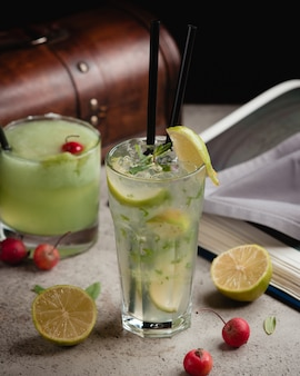 Classic mojito with ice and mint