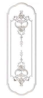 Классическая литьевая рамка с орнаментом декора