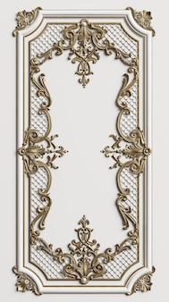 Classic moulding frame with ornament decor