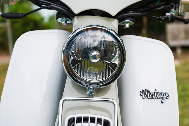 Classic old motorcycle, vintage