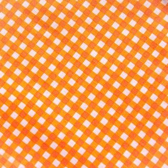 Classic orange plaid fabric or tablecloth wall
