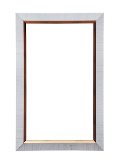 Classic painting canvas frame isolated on white