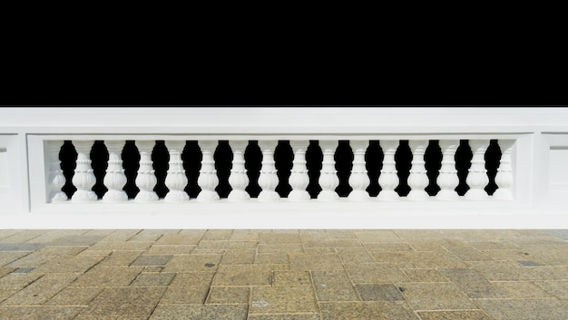 Classic railing with floor isolated.