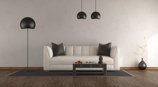 Classic sofa in a white room