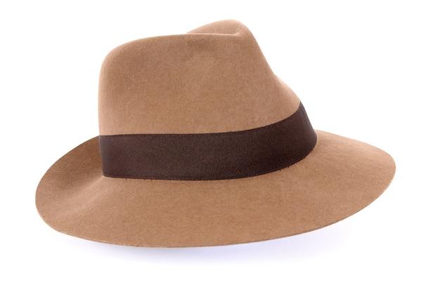 클래식 황갈색 펠트 모자