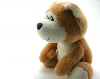 Классический плюшевый медвежонок, пушистый
