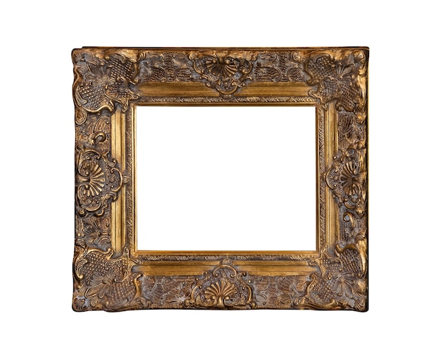 Classic vintage painting canvas frame isolated on white