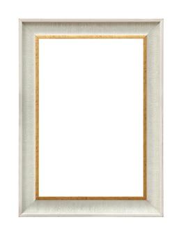 Классическая белая картина холст рамы, изолированные на белом