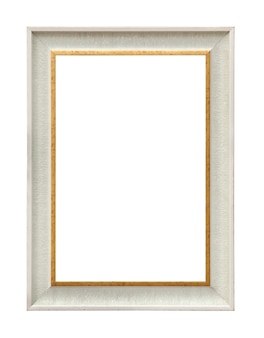 Classic white painting canvas frame isolated on white