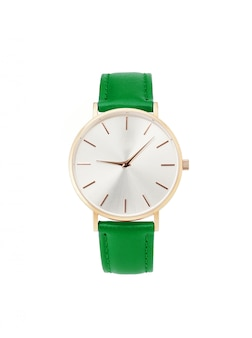 Classic women gold watch white dial