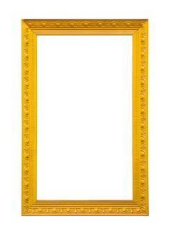 Классическая желтая картина холст рамы, изолированные на белом