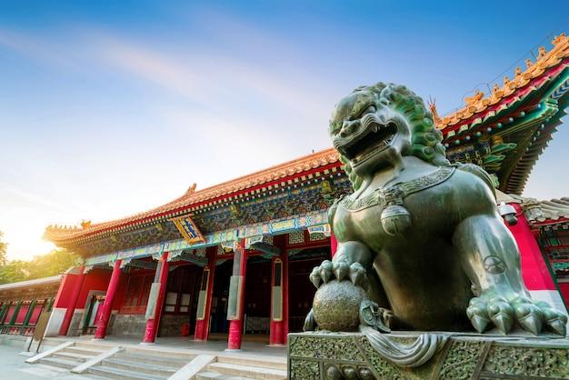 Классическая архитектура в пекине, китай