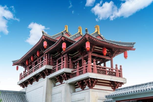 Классическая архитектура в сиане, провинция шэньси, китай.