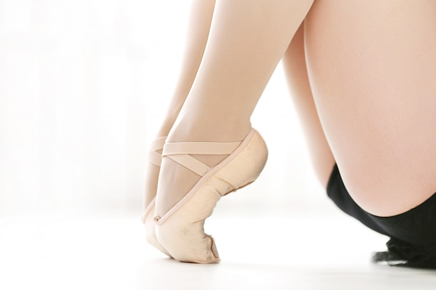 Classical ballerina shoes