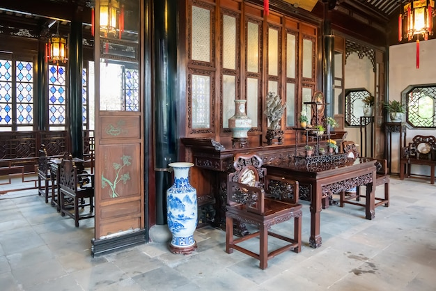 The classical chinese style hall in the humble administrator's garden,suzhou,china