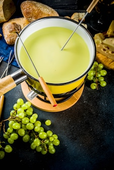 Classical swiss cheese fondue