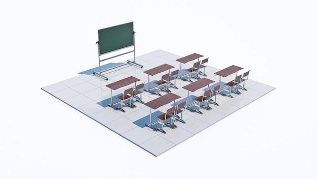 教室の3dレンダリング