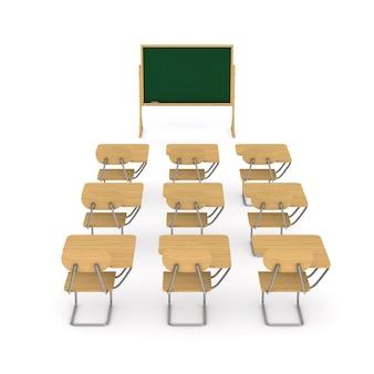 Школьный класс. изолированный 3d-рендеринг