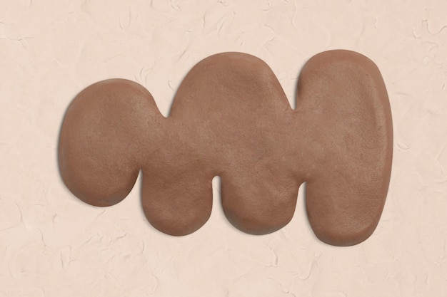 갈색 수제 창조적 인 예술의 점토 불규칙한 모양