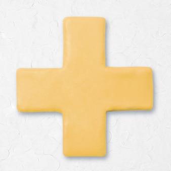 Argilla più segno matematica beige grafica carina per i bambini