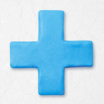 Argilla più segno matematica grafica carina blu per bambini