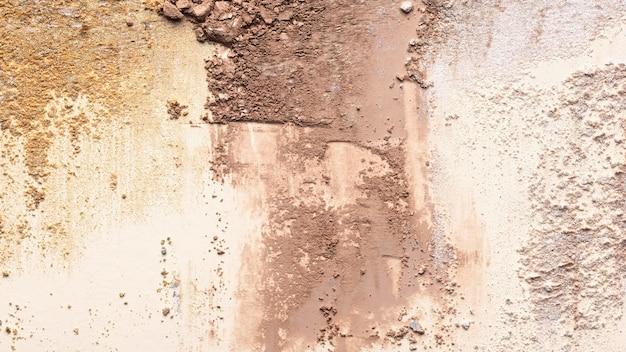 Глиняный порошок крупным планом