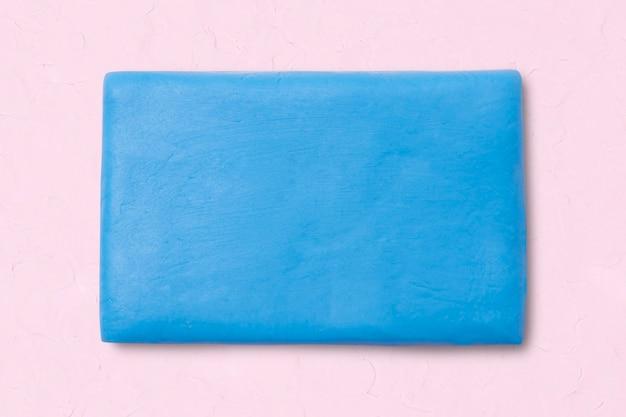 Forma geometrica rettangolo di argilla grafica carina blu per bambini
