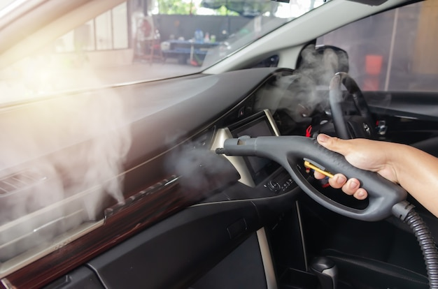 Clean the air of the car. steam heat sterilization in air duct cleaning, disinfection of vehicles.kill germs, viruses and bacteria with high heat.