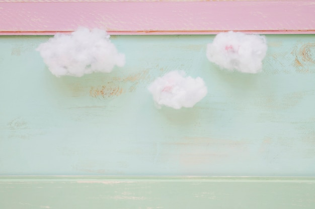 Clean cloud over the grunge wall