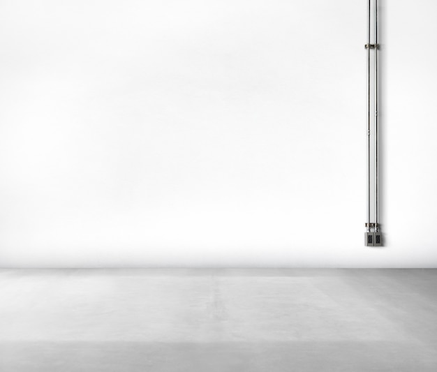 Clean concrete white background no people power supply