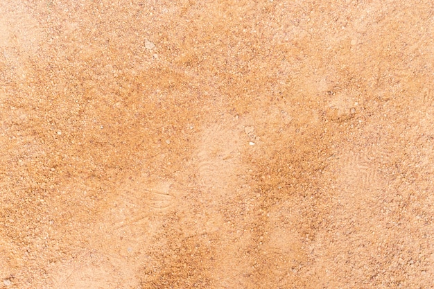 Clean fine sand for children playground surface for texture and background.
