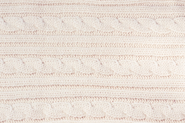 Clean fresh knitted wool fabric as a background