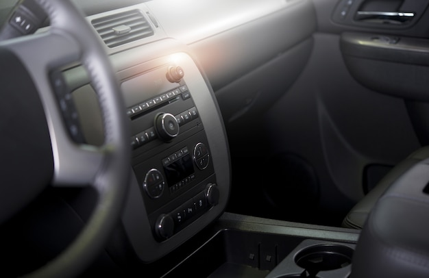 Clean modern car interior