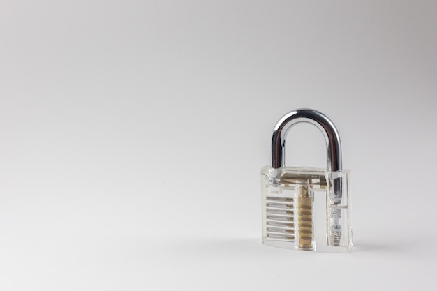 The clean padlock on white background.