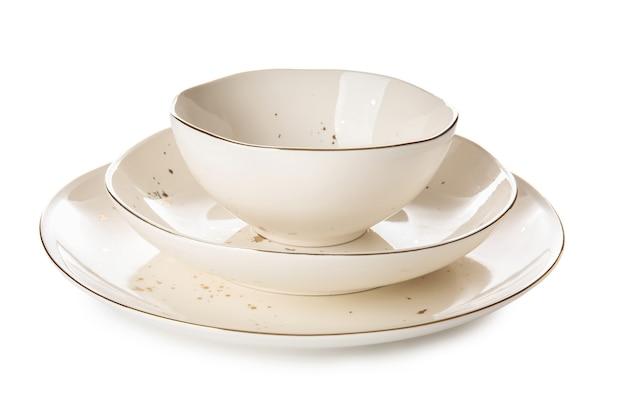 화이트에 깨끗 한 접시
