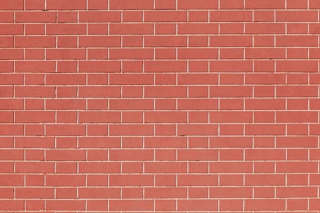 Clean red brick wall background