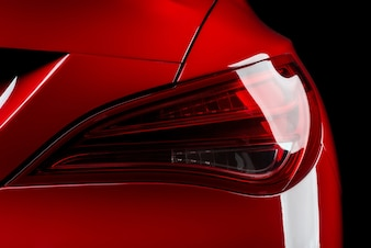 Clean red luxury car taillight