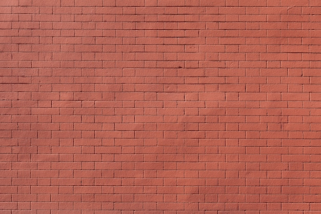 Clean textured red brick wall background