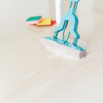 Cleaning concept with mop