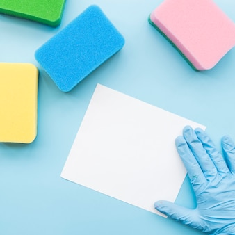 Cleaning concept with paper