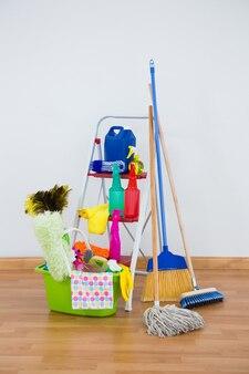 Cleaning euquipment on hardwood floor