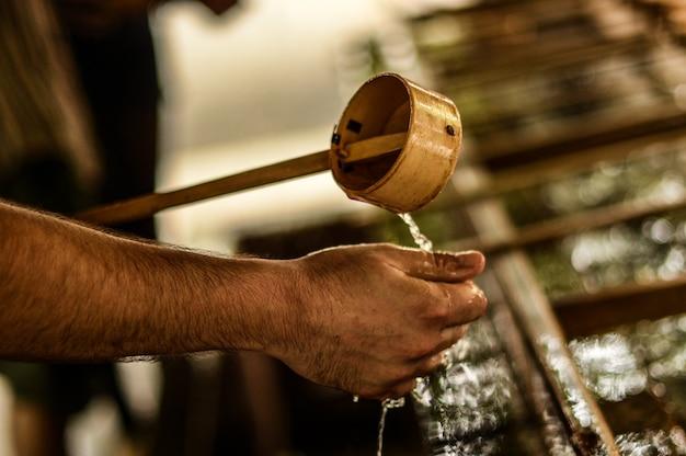 手の儀式の掃除